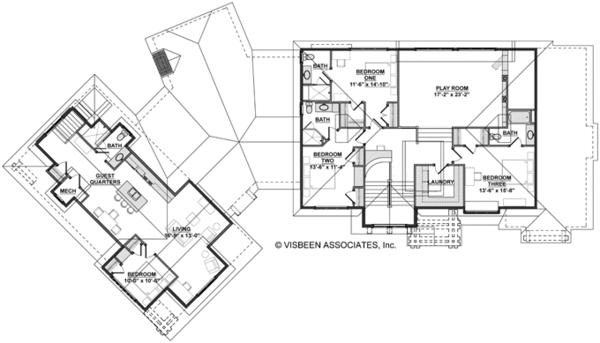 European Floor Plan - Upper Floor Plan Plan #928-267