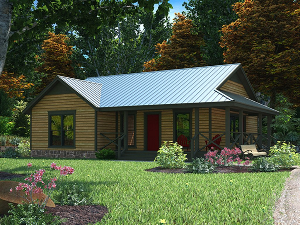 Country Exterior - Front Elevation Plan #472-283