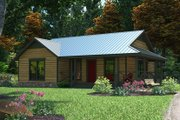 Country Style House Plan - 3 Beds 2 Baths 1094 Sq/Ft Plan #472-283 Exterior - Front Elevation