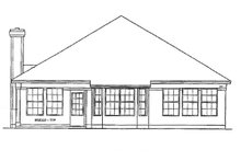 Home Plan - Mediterranean Exterior - Rear Elevation Plan #472-62