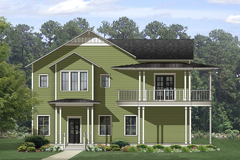 Architectural House Design - Country Exterior - Front Elevation Plan #1058-149