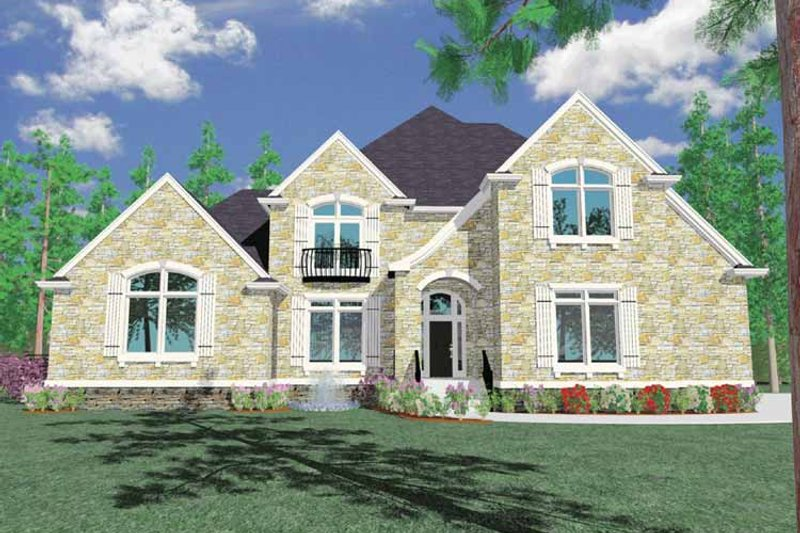 Country Exterior - Front Elevation Plan #509-394