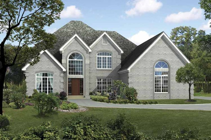 Traditional Exterior - Front Elevation Plan #17-3311 - Houseplans.com