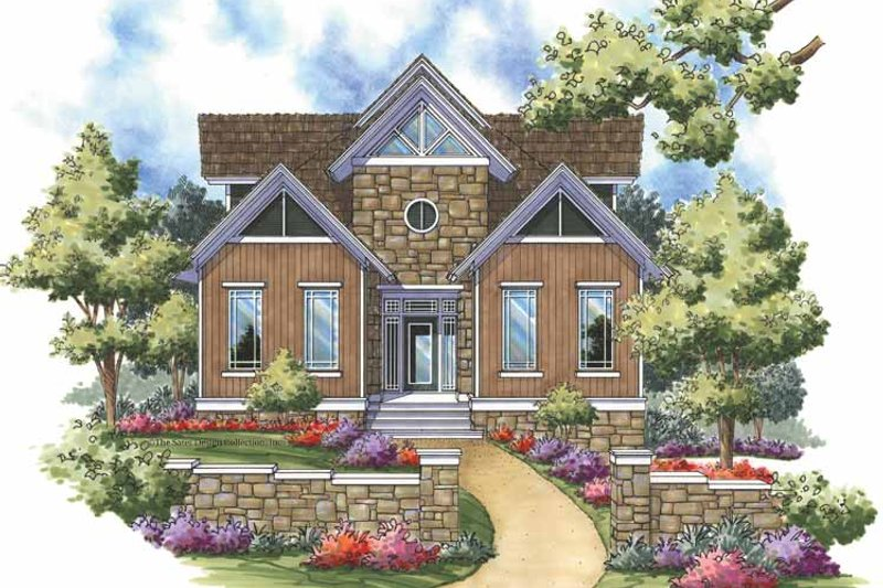 Architectural House Design - Contemporary Exterior - Front Elevation Plan #930-152