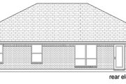 Ranch Style House Plan - 3 Beds 2 Baths 1588 Sq/Ft Plan #84-548 Exterior - Rear Elevation