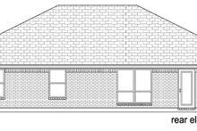 House Plan Design - Ranch Exterior - Rear Elevation Plan #84-548