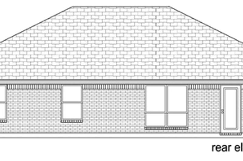 Ranch Exterior - Rear Elevation Plan #84-548 - Houseplans.com
