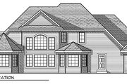 European Style House Plan - 4 Beds 3 Baths 2874 Sq/Ft Plan #70-847 Exterior - Rear Elevation
