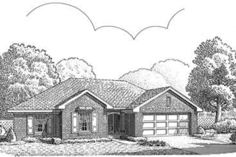 European Exterior - Front Elevation Plan #410-321