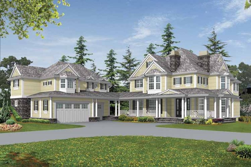 Country Exterior - Front Elevation Plan #132-516
