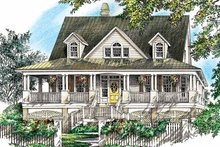 Country Exterior - Front Elevation Plan #929-752