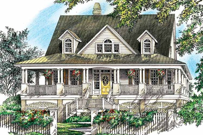 Country Exterior - Front Elevation Plan #929-752 - Houseplans.com