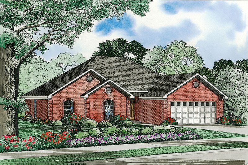 House Plan Design - European Exterior - Front Elevation Plan #17-570