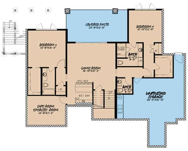 European Floor Plan - Other Floor Plan Plan #17-3394