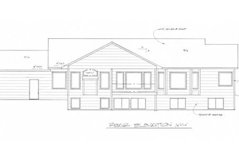 Traditional Exterior - Rear Elevation Plan #58-182 - Houseplans.com