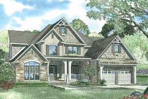 Craftsman Exterior - Front Elevation Plan #17-1167