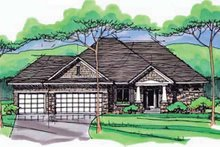 Home Plan - European Exterior - Front Elevation Plan #51-971