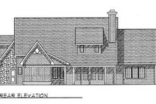 European Exterior - Rear Elevation Plan #70-460