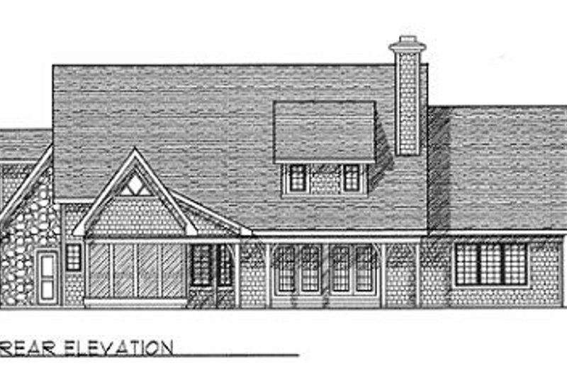 European Exterior - Rear Elevation Plan #70-460 - Houseplans.com