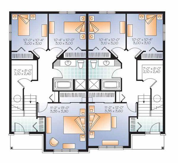 Home Plan - Traditional Floor Plan - Lower Floor Plan #23-2496