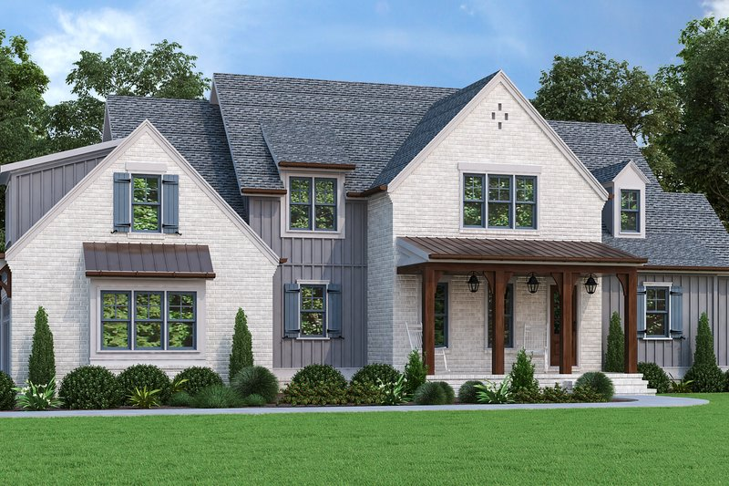 Home Plan - Farmhouse Exterior - Front Elevation Plan #927-1013
