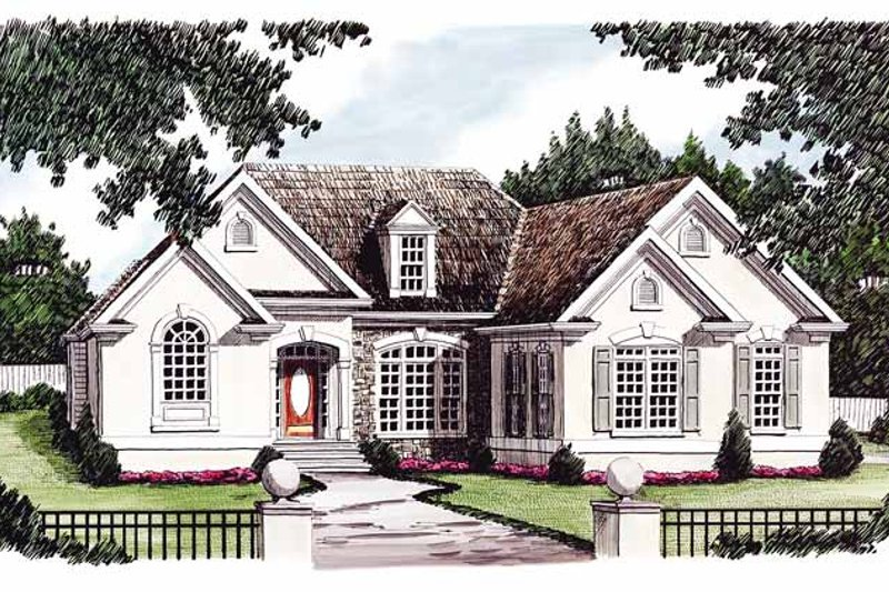 Country Exterior - Front Elevation Plan #927-121