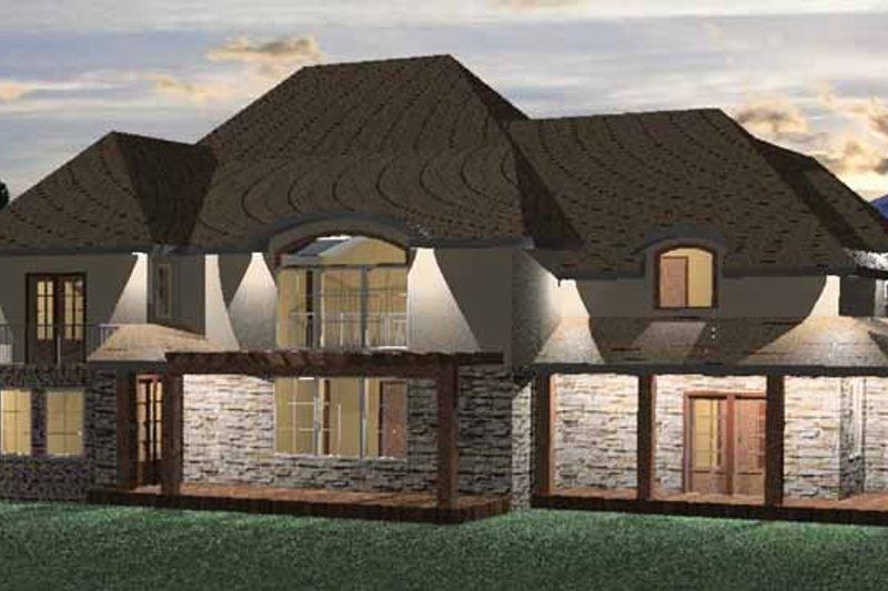 Country Exterior - Rear Elevation Plan #937-25 - Houseplans.com