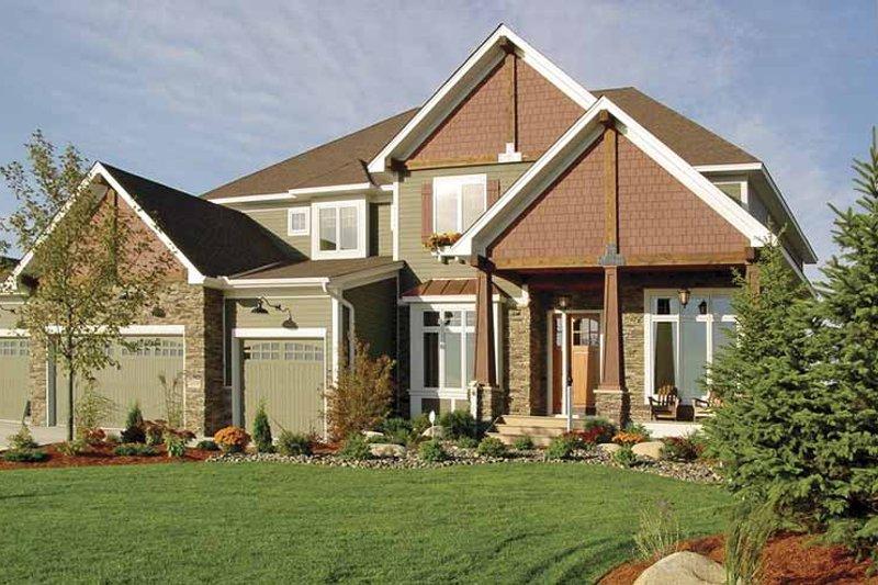 Craftsman Exterior - Front Elevation Plan #320-992