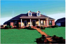 Classical Exterior - Front Elevation Plan #36-620