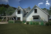House Plan Design - Country Exterior - Rear Elevation Plan #120-250