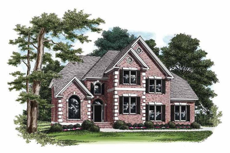 Colonial Exterior - Front Elevation Plan #927-836