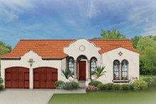 House Plan Design - Mediterranean Exterior - Front Elevation Plan #1058-2