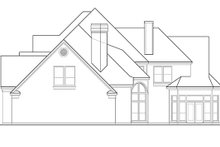 House Plan Design - European Exterior - Rear Elevation Plan #1021-8