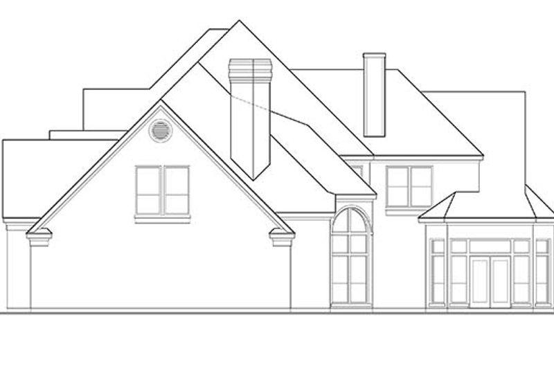 European Exterior - Rear Elevation Plan #1021-8 - Houseplans.com