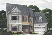 House Plan Design - Traditional Exterior - Front Elevation Plan #453-542