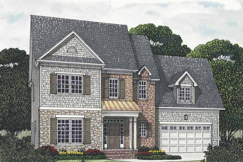 Traditional Exterior - Front Elevation Plan #453-542 - Houseplans.com