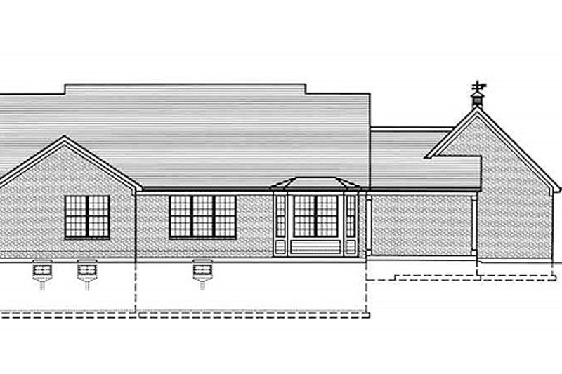 Country Exterior - Rear Elevation Plan #46-490 - Houseplans.com