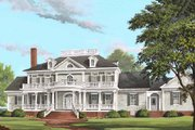 Southern Style House Plan - 4 Beds 5.5 Baths 5564 Sq/Ft Plan #137-186 Exterior - Front Elevation