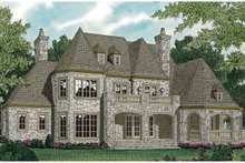 European Exterior - Rear Elevation Plan #453-53