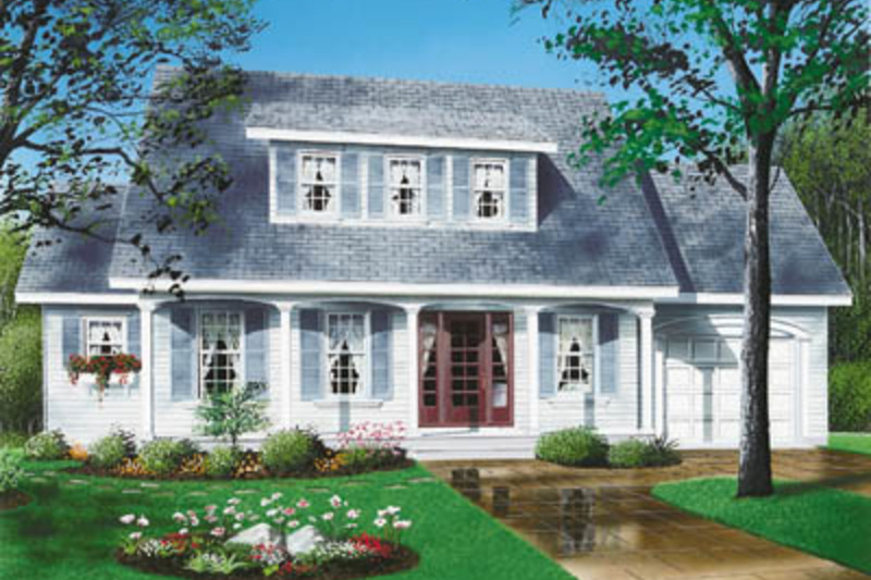 Farmhouse Exterior - Front Elevation Plan #23-248