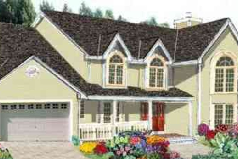 Dream House Plan - European Exterior - Front Elevation Plan #3-215