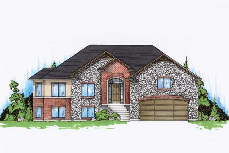 Home Plan - Ranch Exterior - Front Elevation Plan #5-236