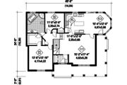 European Style House Plan - 2 Beds 1 Baths 1375 Sq/Ft Plan #25-4800 Floor Plan - Main Floor Plan