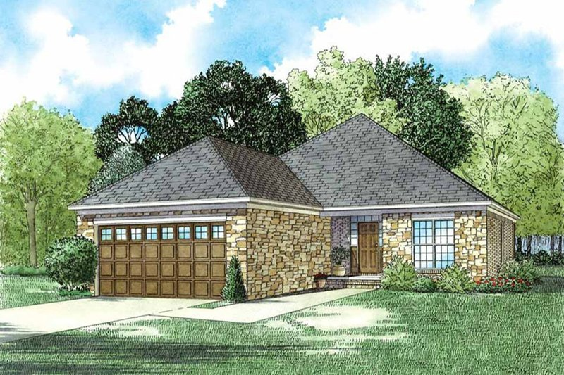 Traditional Exterior - Front Elevation Plan #17-2610