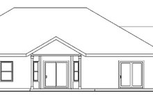 Dream House Plan - Traditional Exterior - Rear Elevation Plan #124-613