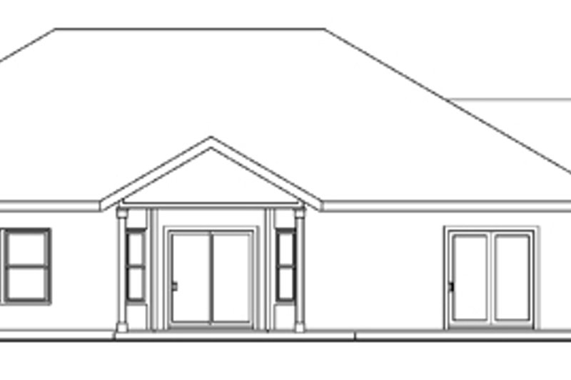 Traditional Exterior - Rear Elevation Plan #124-613 - Houseplans.com