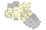 Cottage Style House Plan - 4 Beds 3.5 Baths 4420 Sq/Ft Plan #132-568 Floor Plan - Main Floor