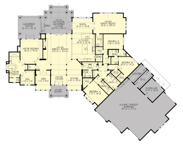 Cottage Floor Plan - Main Floor Plan Plan #132-568