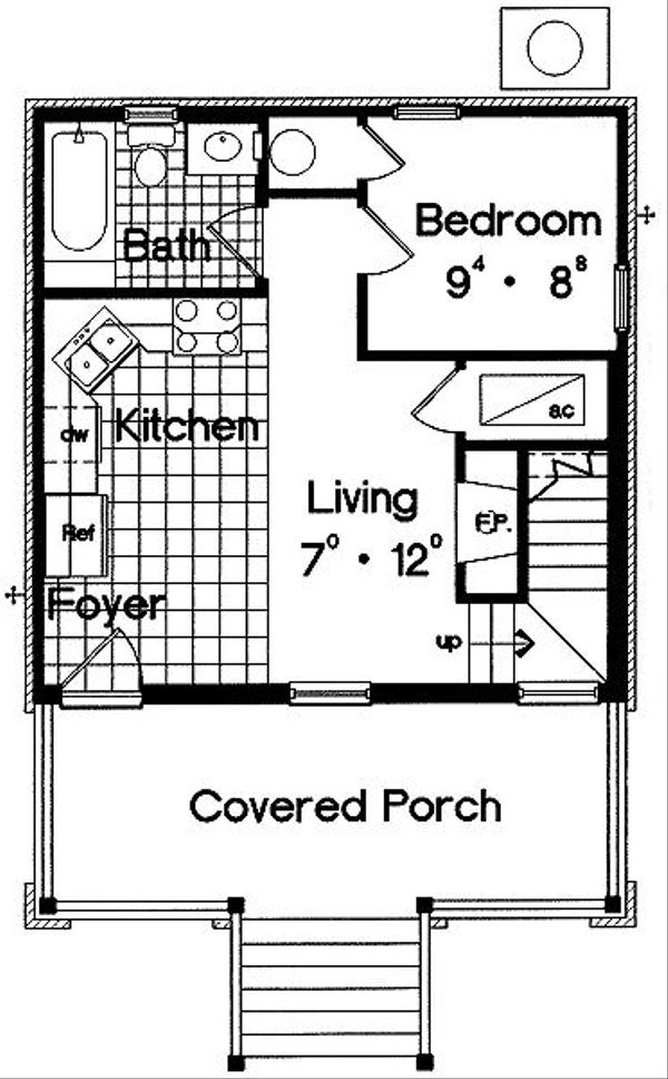 Cottage Floor Plan - Main Floor Plan Plan #417-101