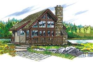 Cabin Exterior - Front Elevation Plan #47-429
